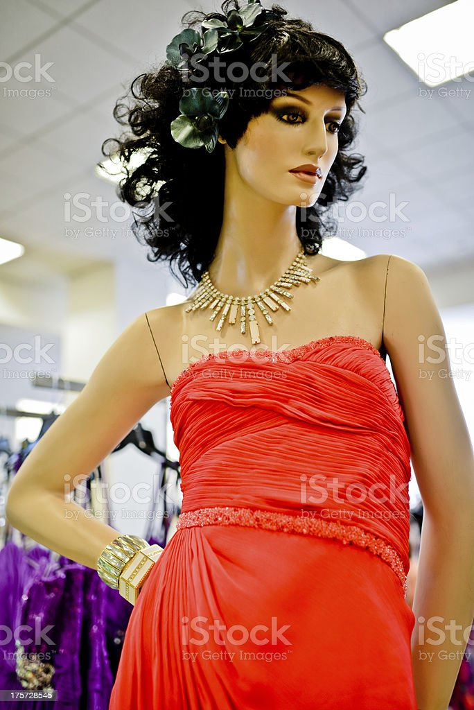 Mannequin at fashion store royalty-free stock photo