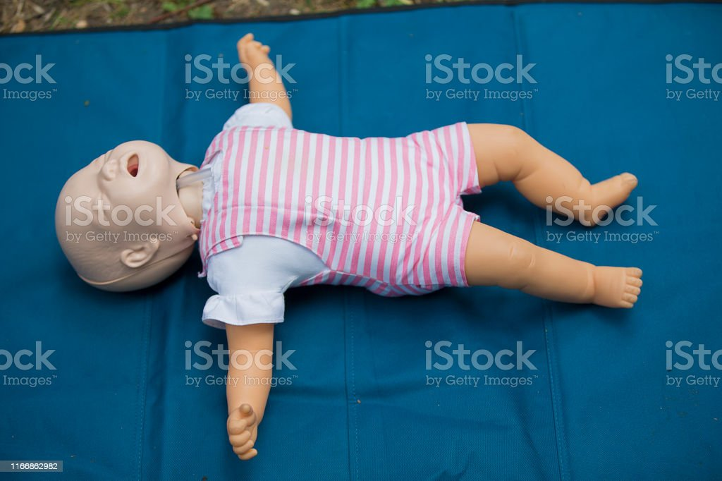 Mannequin child for first aid training. Training dummy kid for...