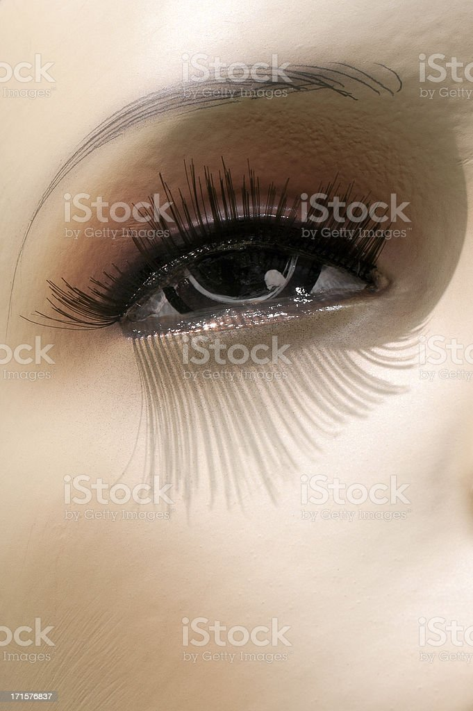 Mannequin eye royalty-free stock photo