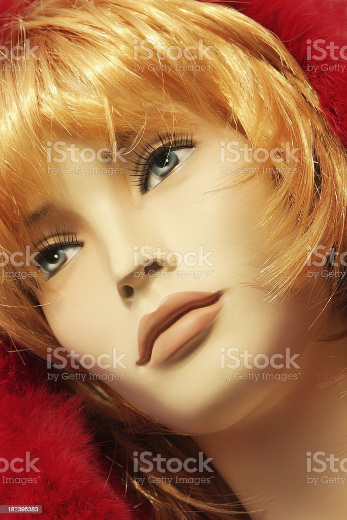 Mannequin Face Female Fashion Model Expressionless stock photo