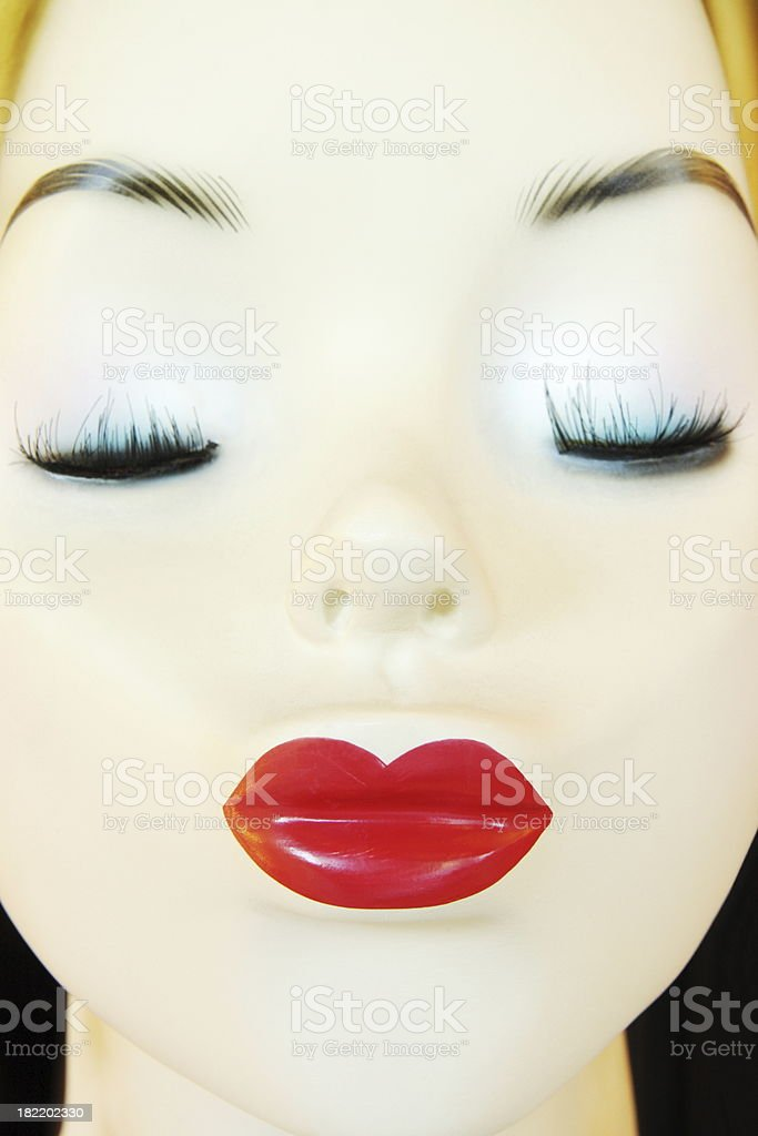 Mannequin Face Female Fashion Model Pouting royalty-free stock photo
