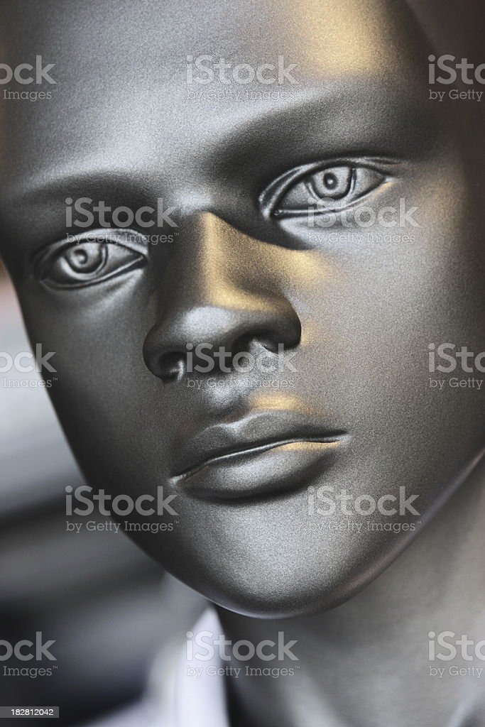 Mannequin Face Male Fashion Head royalty-free stock photo