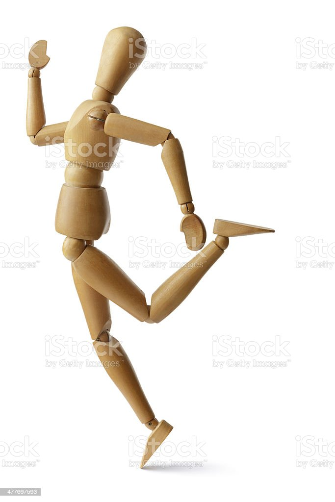 Mannequin: Finish line royalty-free stock photo