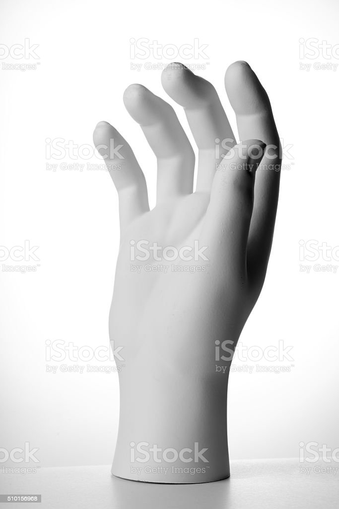 Mannequin hand isolated stock photo
