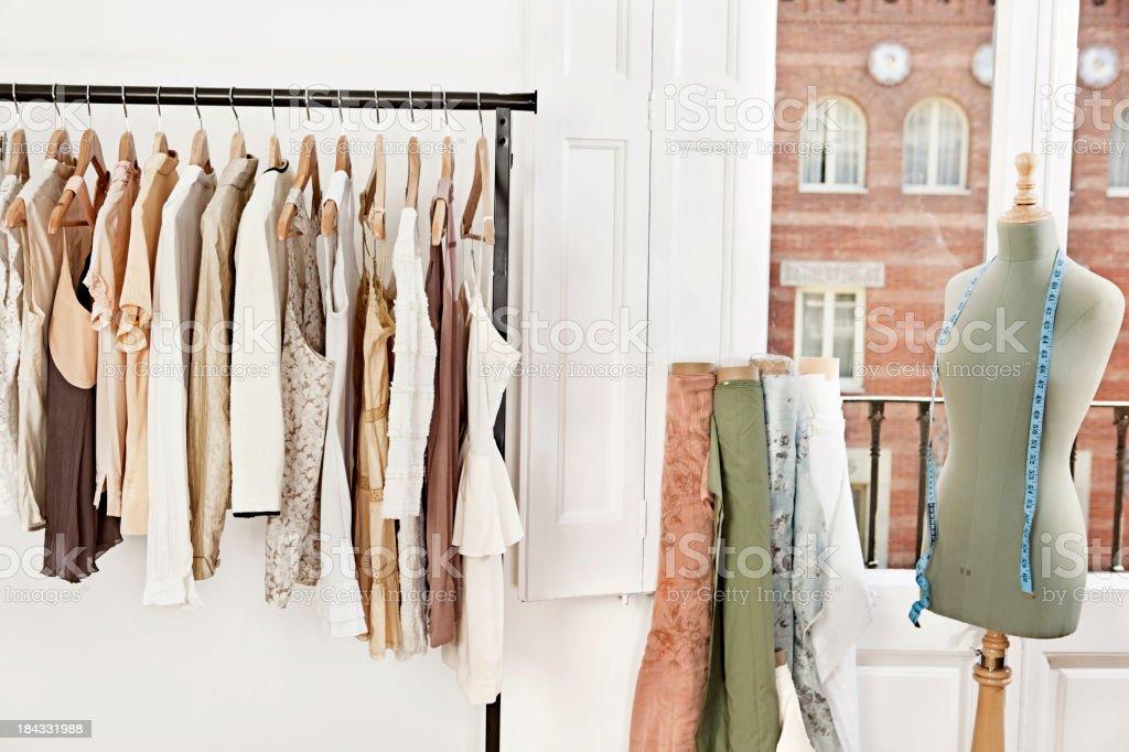 Mannequin in fashion designer's studio stock photo