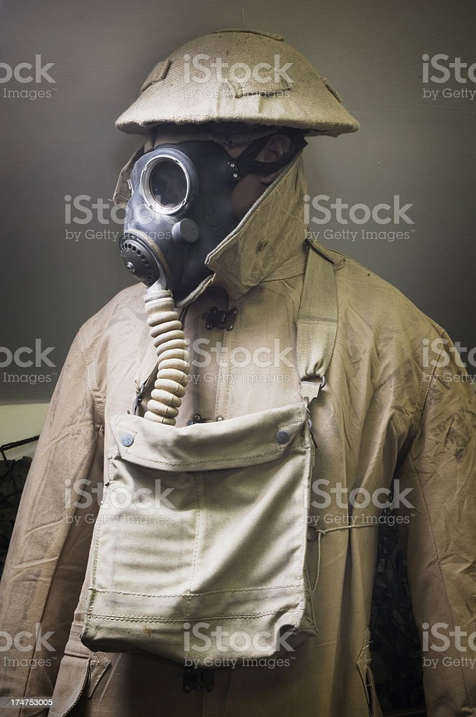 WW2 mannequin in museum royalty-free stock photo