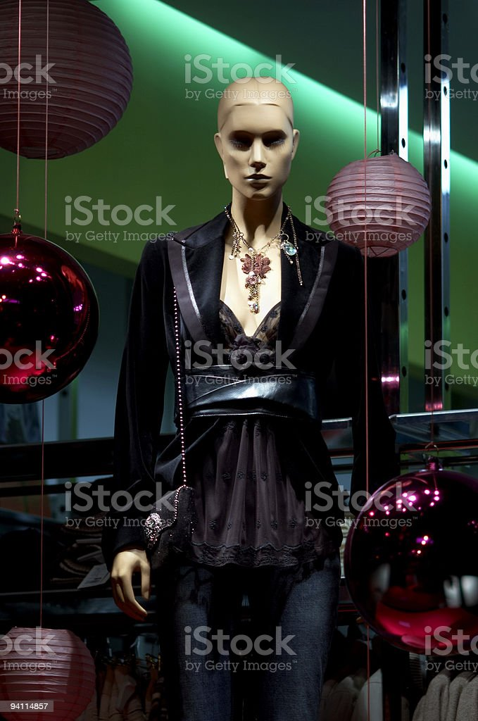 mannequin in sexy evening dress royalty-free stock photo