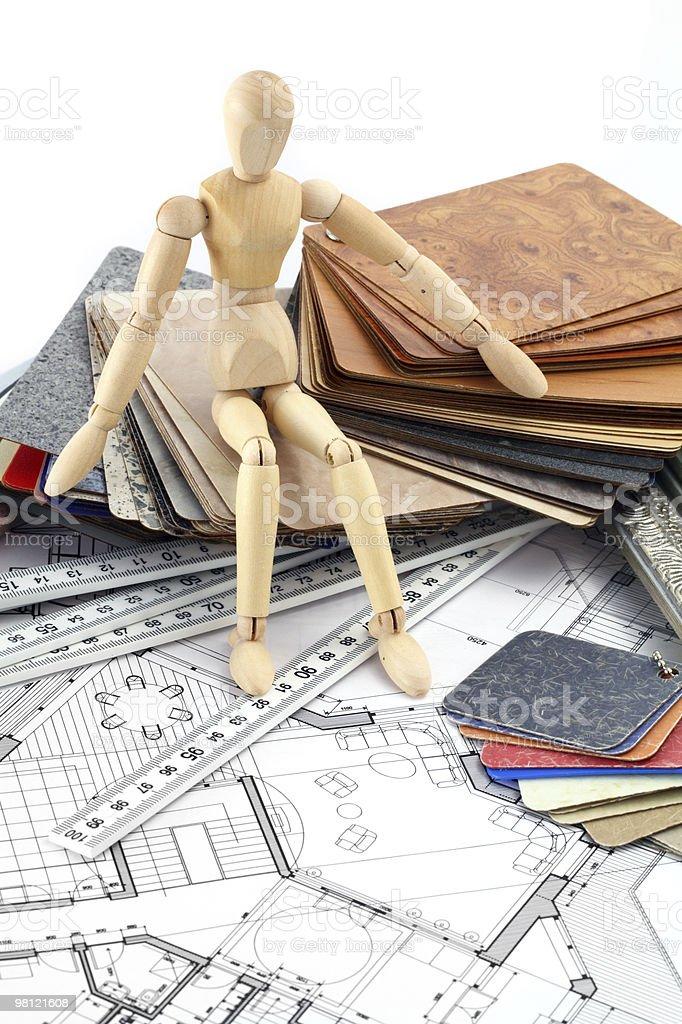 mannequin & interior plan royalty-free stock photo