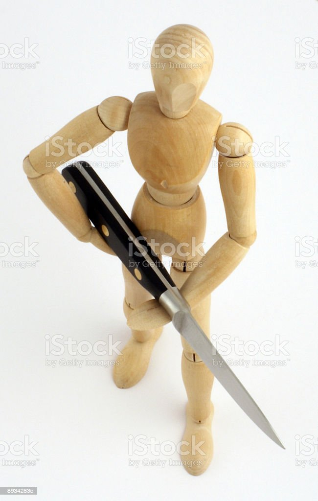 Mannequin killer royalty-free stock photo