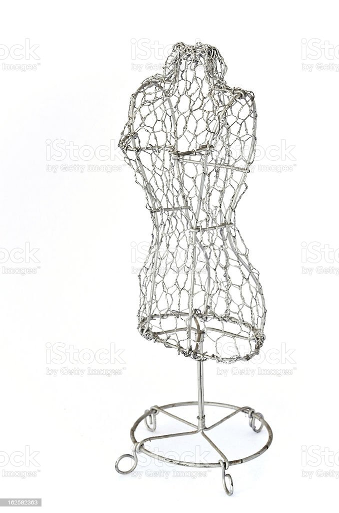 Mannequin made of wire stock photo