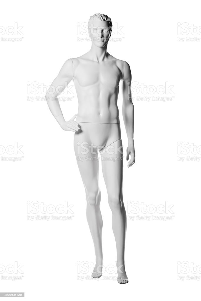 mannequin male isolated stock photo