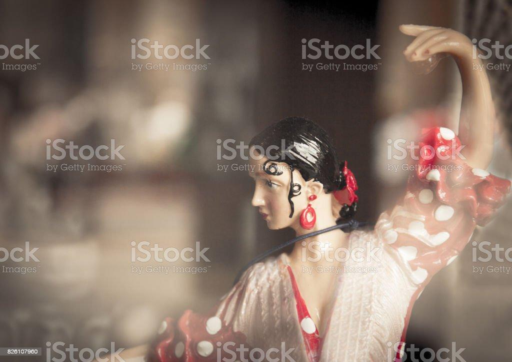 Mannequin of woman dancing sevillanas stock photo
