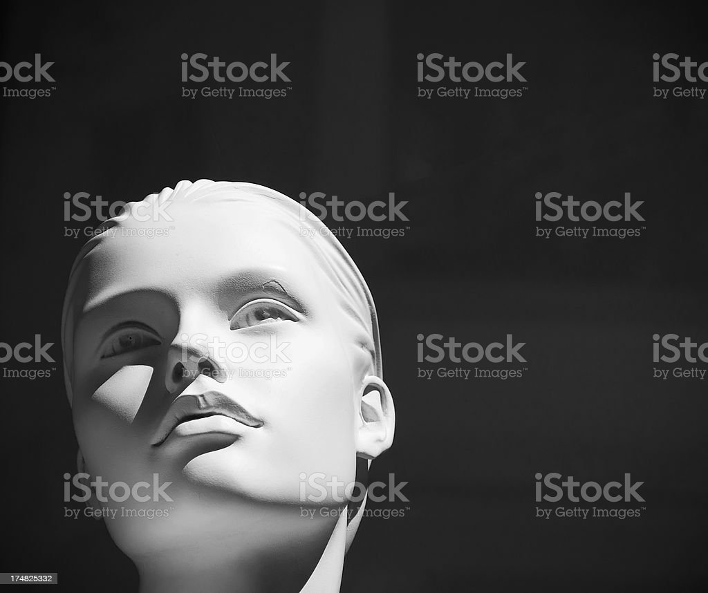 Mannequin (black and white) royalty-free stock photo