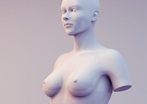 3D render of mannequin model.