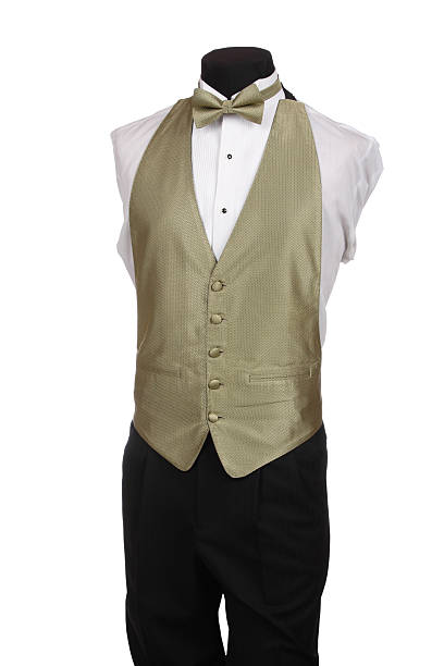 Mannequin with Bow Tie and Tan Vest stock photo