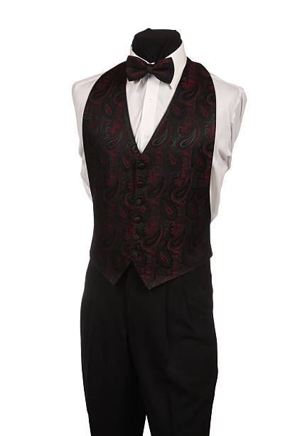 Mannequin with Bow Tie and Vest stock photo