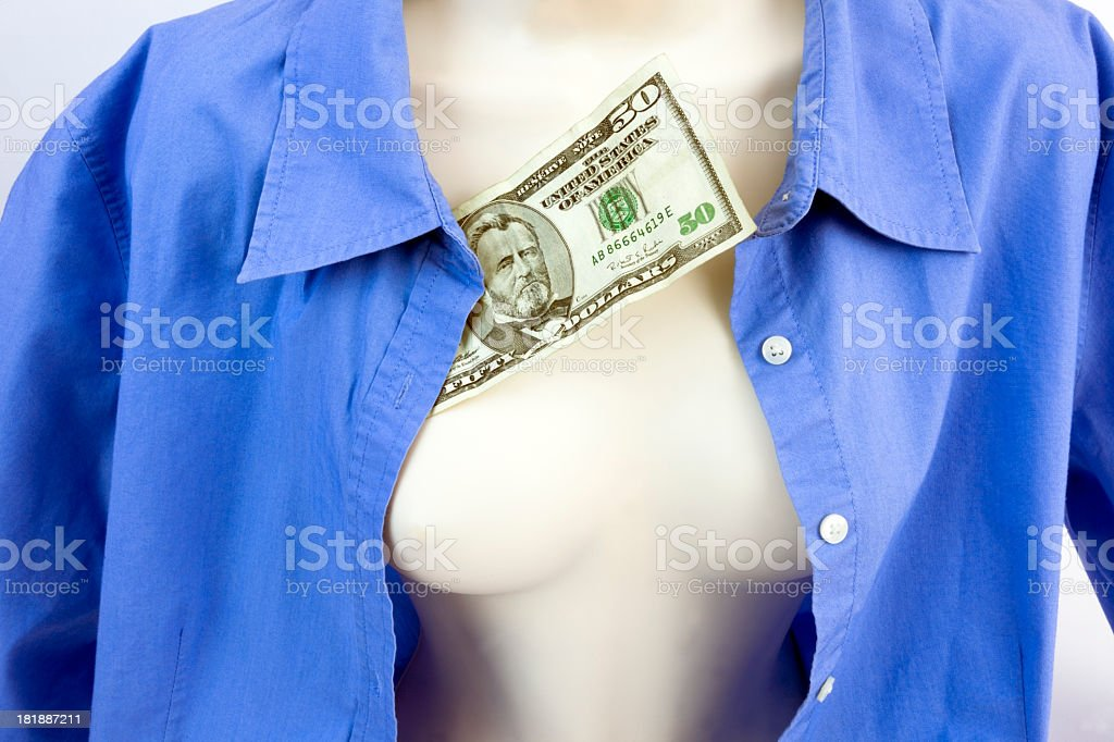 Mannequin with Cash royalty-free stock photo