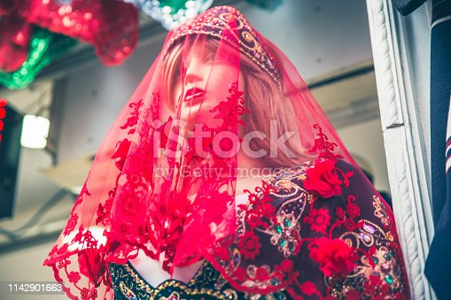 Mannequin with traditional Turkish clothing
