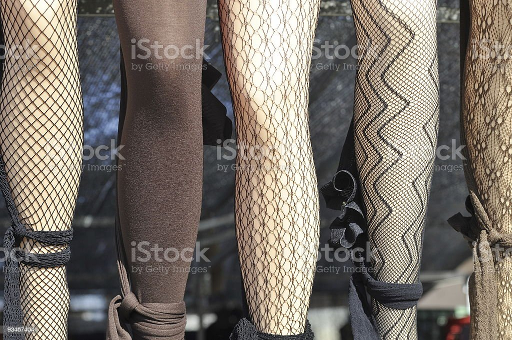 Mannequins and stockings royalty-free stock photo