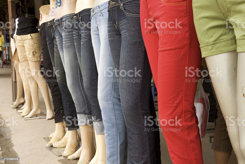 Mannequins in a Row stock photo