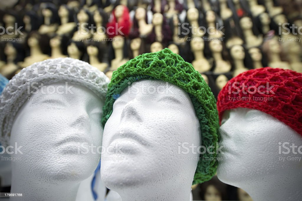 Mannequins wearing beret royalty-free stock photo
