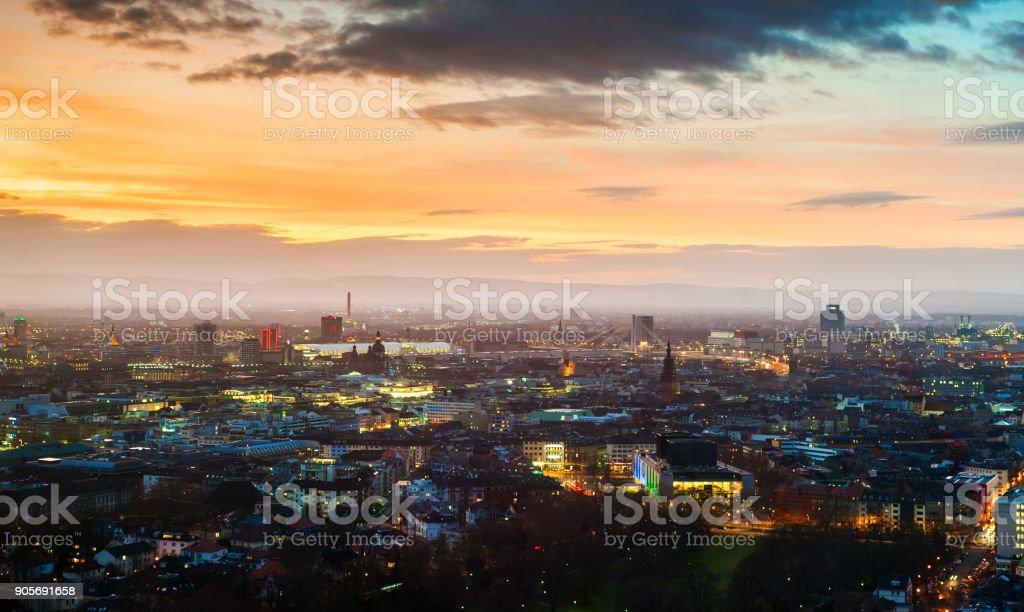 Mannheim-Ludwigshafen Lizenzfreies stock-foto