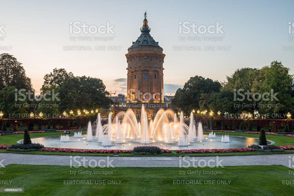 Mannheim Water Tower stock photo
