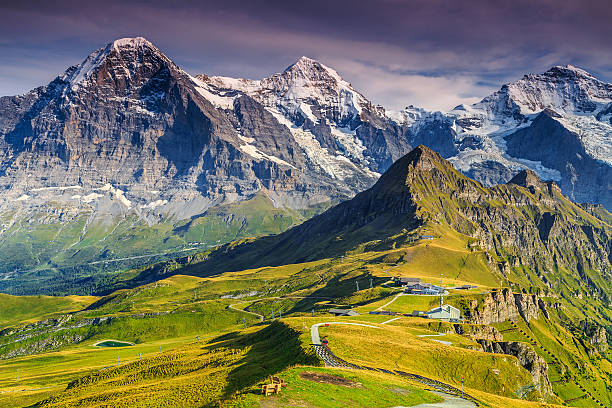 Mannlichen station,famous tourist destination,Bernese Oberland,Switzerland,Europe stock photo