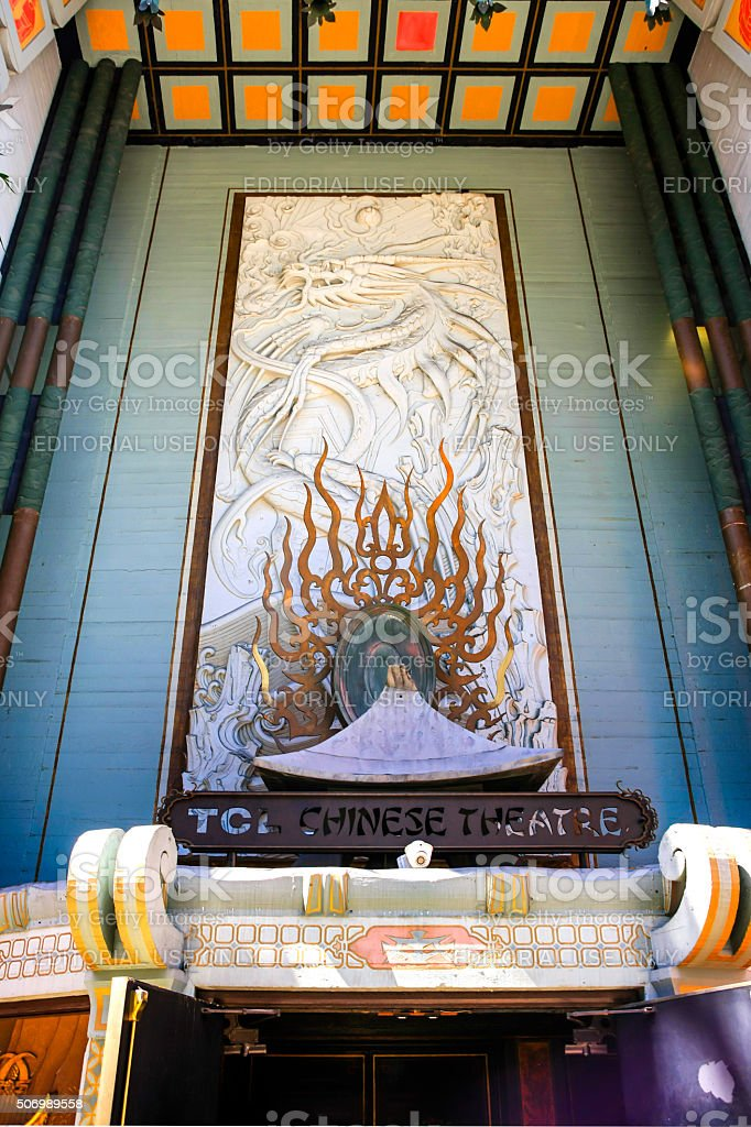 Mann's Chinese Theater on Hollywood Blvd in Los Angeles stock photo