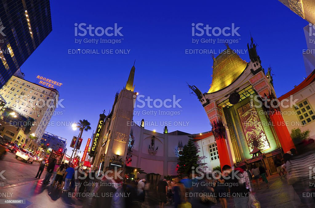 Mann's Chinese Theatre at Hollywood Boulevard in Los Angeles, CA stock photo