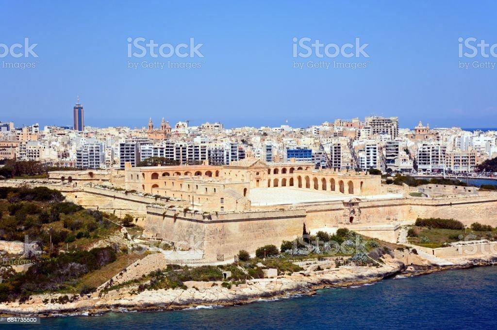 Manoel Fort and Sleima, Malta. stock photo