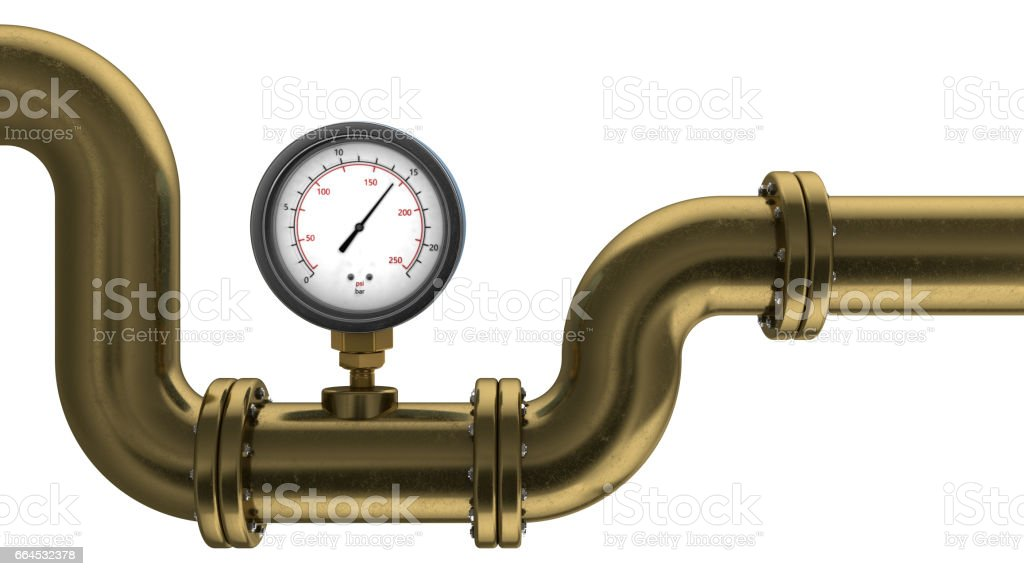 manometer and pipe royalty-free stock photo