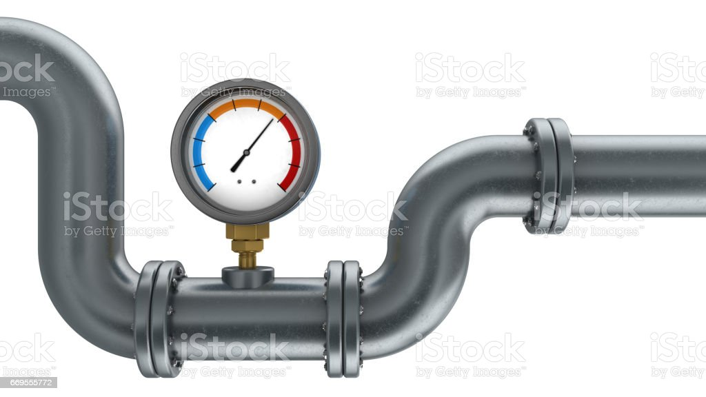 manometer and pipe stock photo