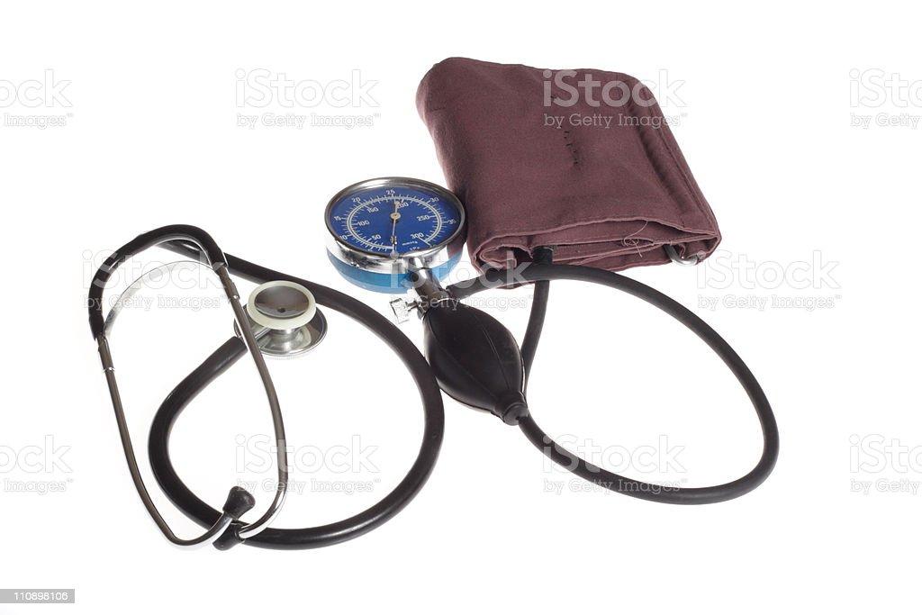 Manometer And Stethoscope royalty-free stock photo