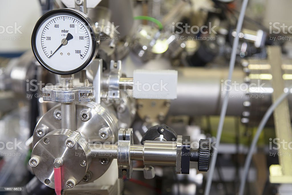 Manometer in nuclear  laboratory royalty-free stock photo