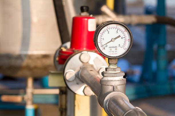 manometer or pressure gauge stock photo