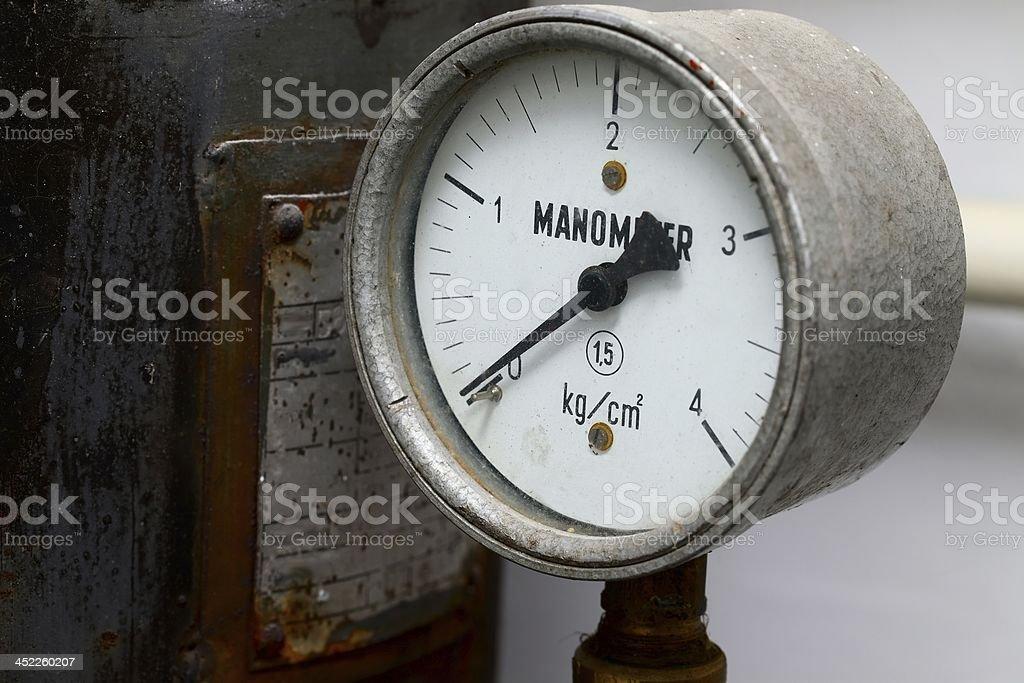 Manometer royalty-free stock photo