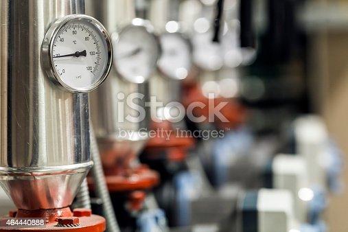 manometer in the boiler room