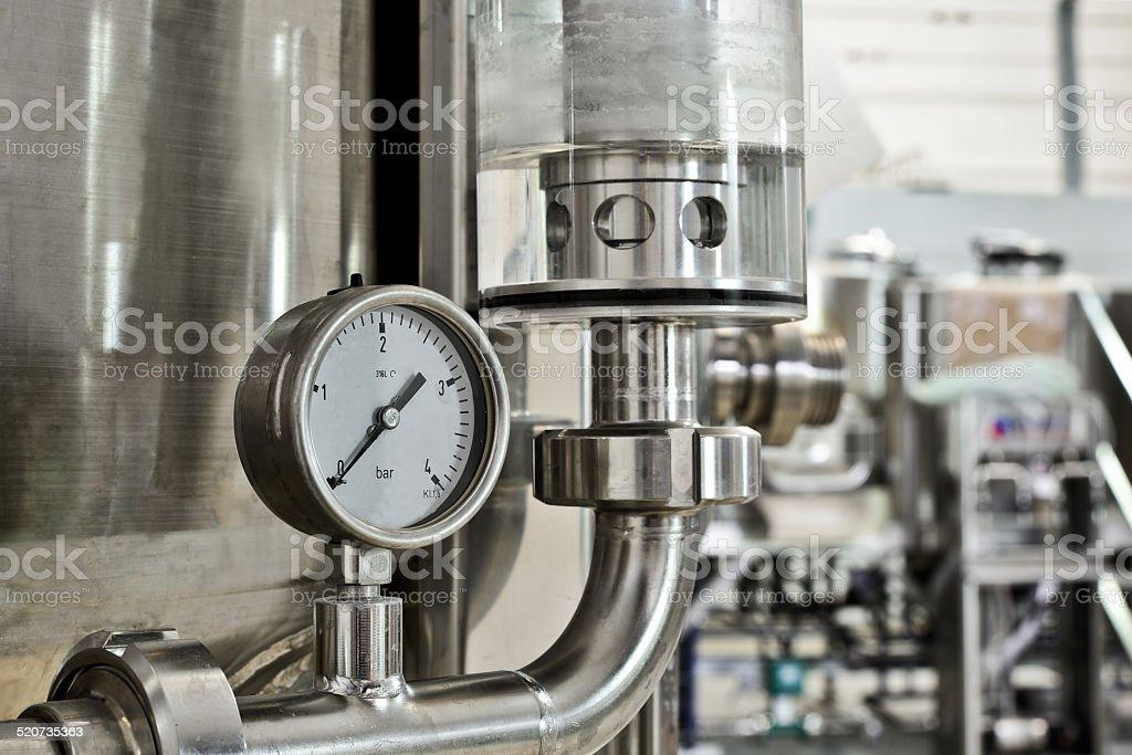 Manometer pressure stock photo