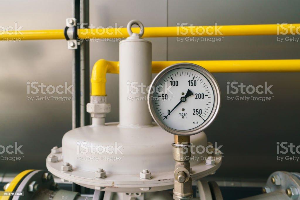 Manometer - pressure sensor stock photo