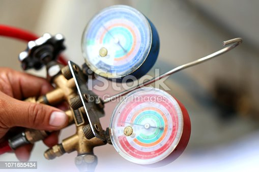 962280084 istock photo manometers measuring equipment for filling air conditioners,gauges. 1071655434