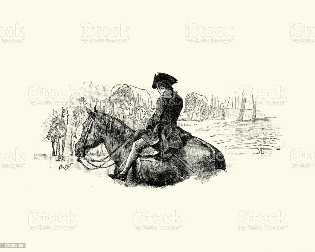 Manon Lescaut - homem a cavalo do século XVIII - foto de acervo