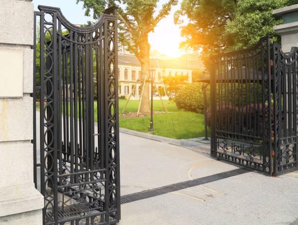 Manor gate stock photo
