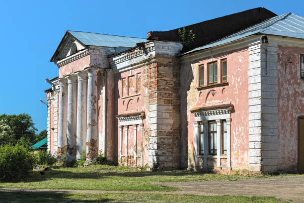 Manor house of Sergey Tatishchev in Staraya Vichuga settlement, Ivanovo Oblast, Russia stock photo