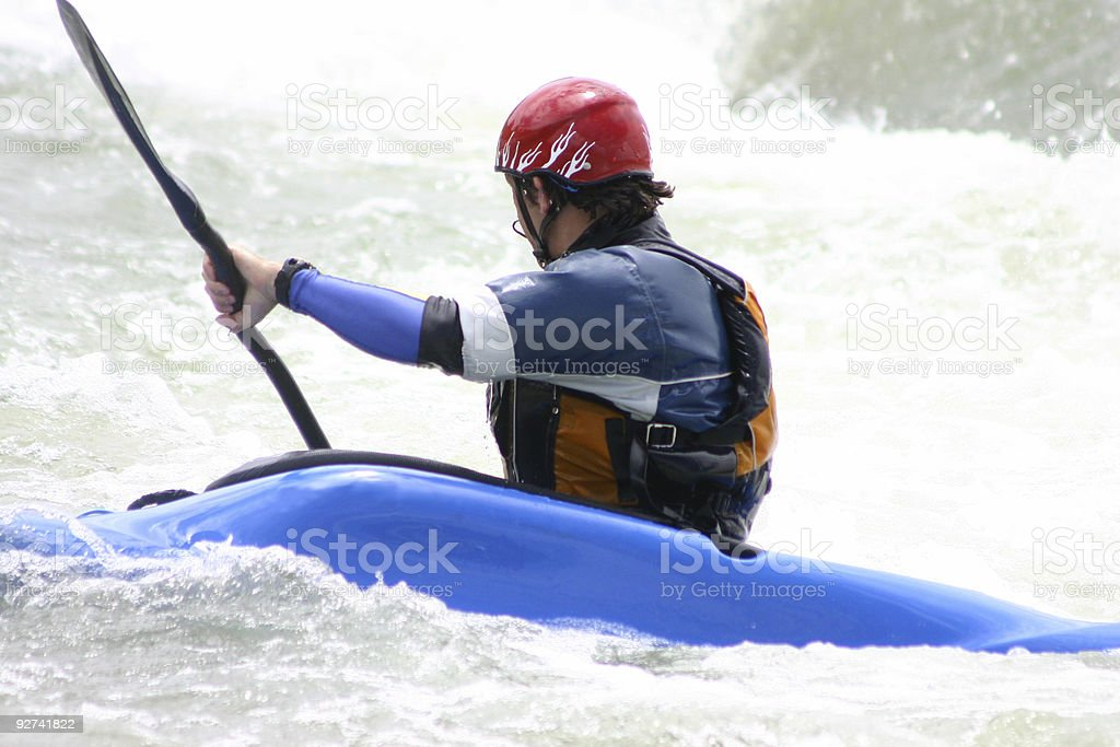 manouvering through rapids royalty-free stock photo