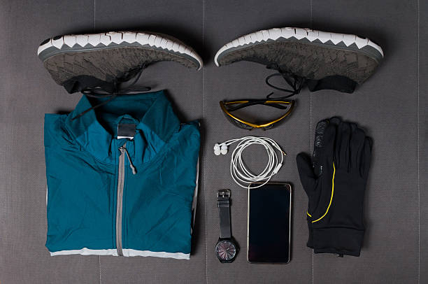 Man's accessories for sports stock photo