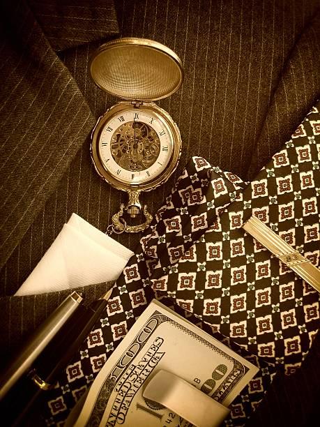 herren-accessoires - krawattennadel stock-fotos und bilder
