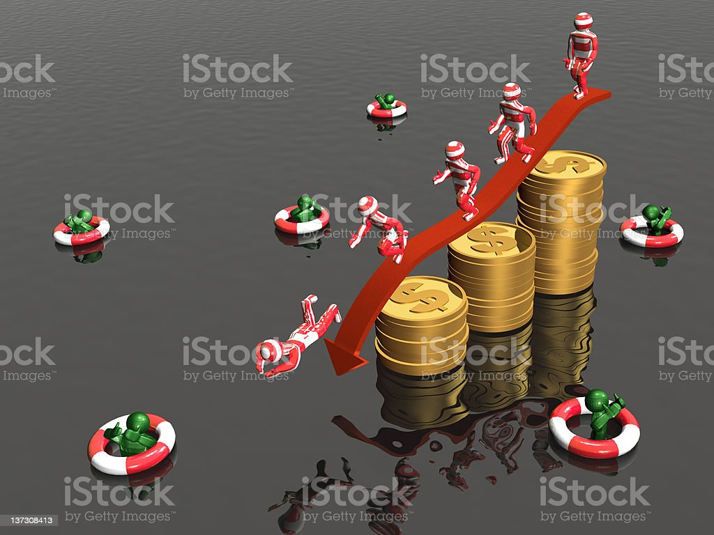 Mans and coins royalty-free stock photo