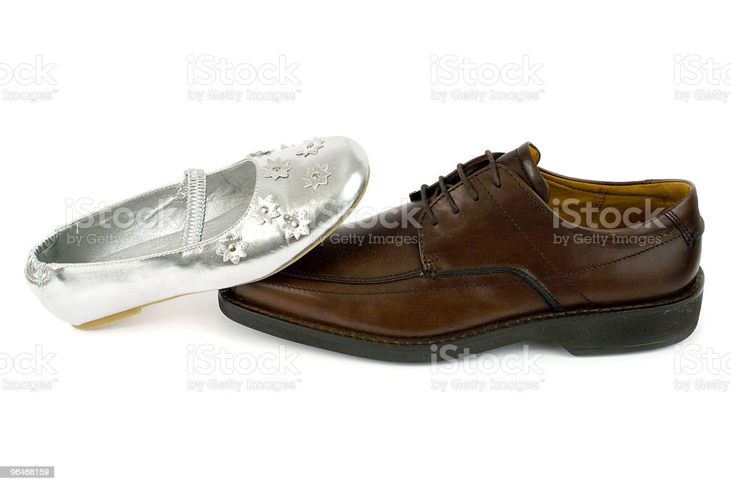 Man's and women's shoes royalty-free stock photo