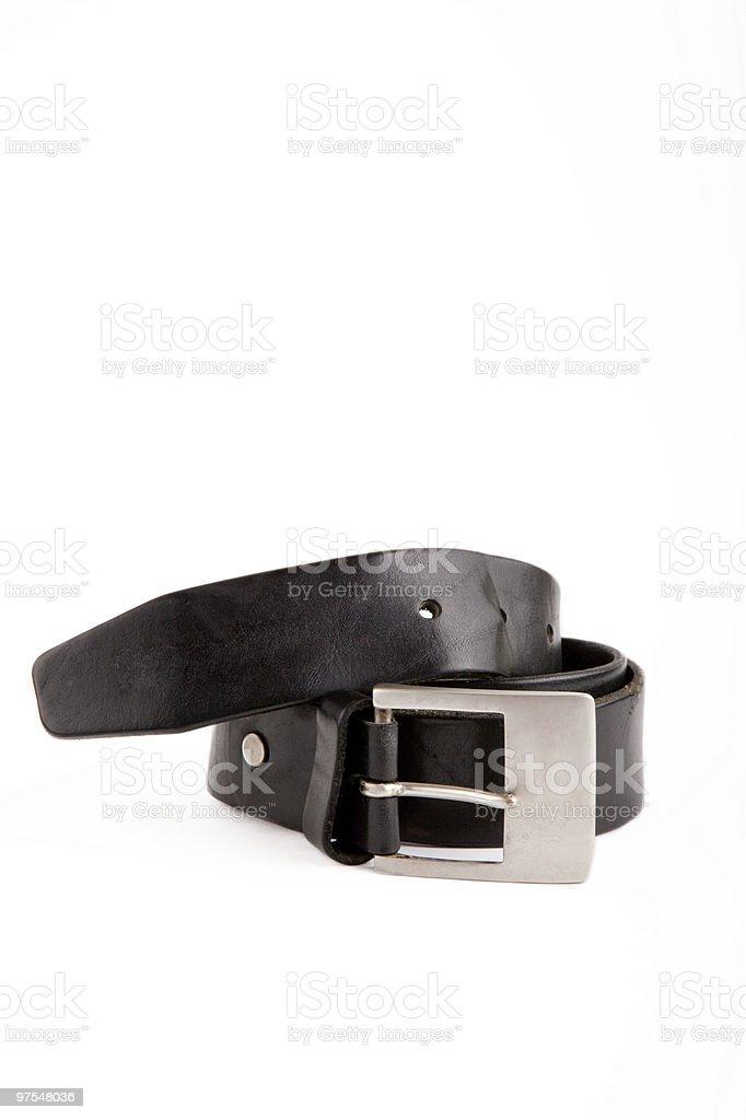 Man's belt royalty-free stock photo